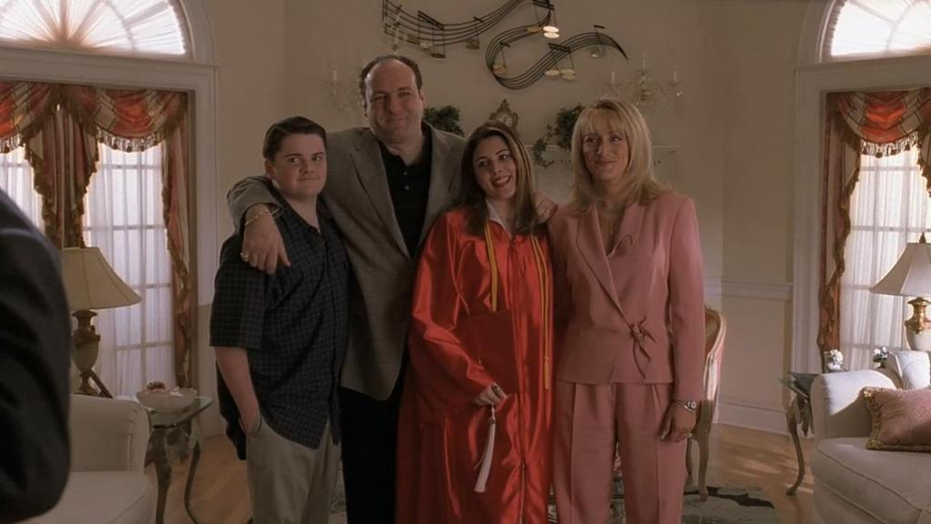 Tony Soprano and his family - season two
