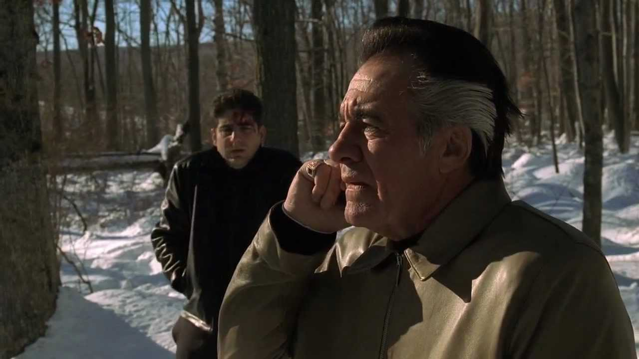 Chris and Paulie lost in the woods