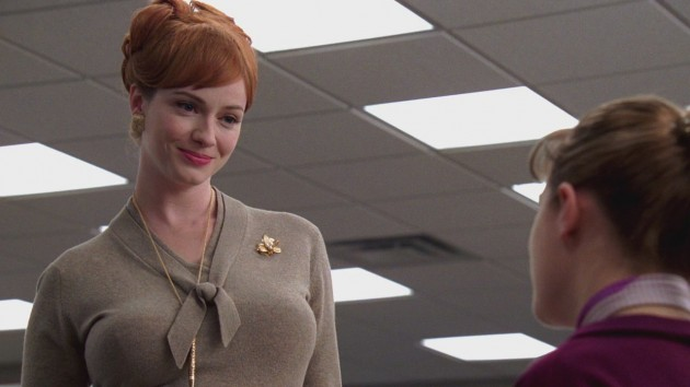 Joan and Peggy Ladies Room Mad Men S1E2