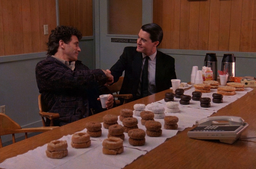 Agent Cooper coffee and donuts